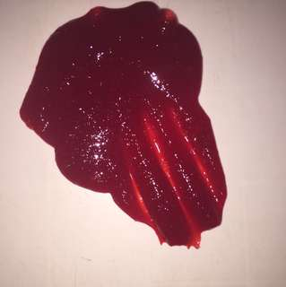 Bloody Red Clear Slime | Very Stretchy