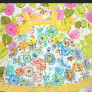 Pretty dress in 100% cotton for 1 to 3 years old
