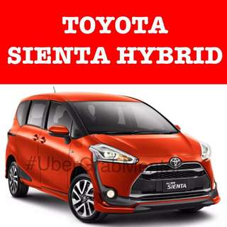 Toyota Sienta Hybrid for Uber Grab