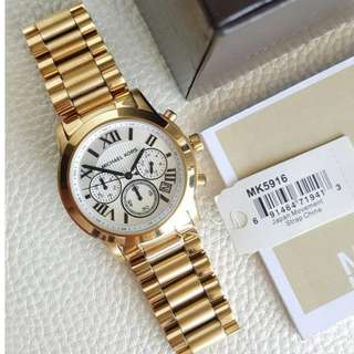 Michael Kors Cooper Chronograph Midsize Gold 40mm, MK5916