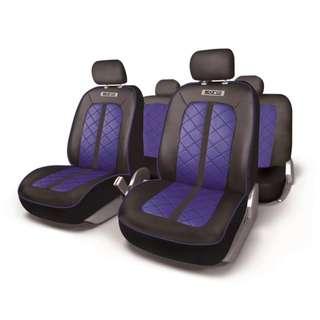 Sparco Seat Covers Sport Line SPC1000PVCAZ (Black/Blue)
