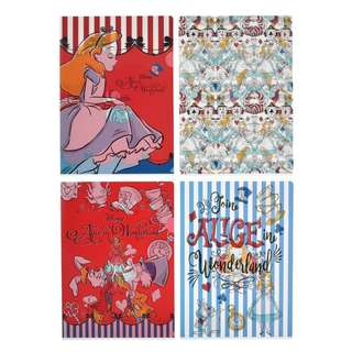 日本 Disney Store 直送 Alice in the Wonderland Alice Party 系列 A4 File Set