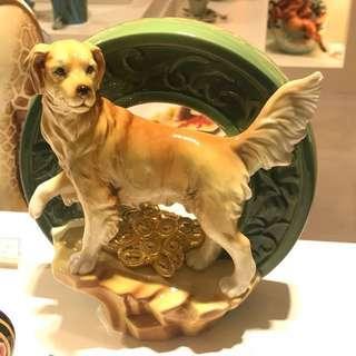 法藍瓷- Franz 旺旺來富狗擺飾