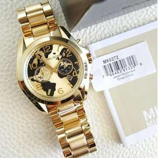 Michael Kors Hunger Stop Bradshaw Gold Chronograph Large 43mm, MK6272