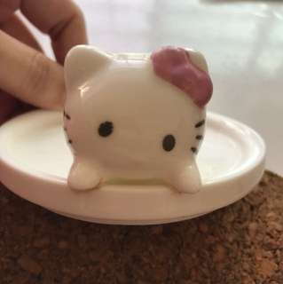 Hello Kitty Porcelain cup cover - 7.3cm diameter