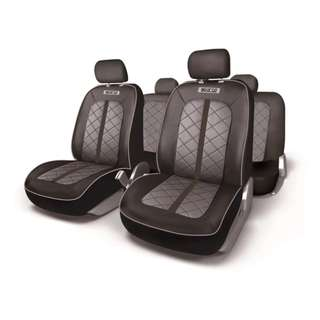 Sparco Seat Covers Sport Line SPC1000PVCGR  (Black/Gray)