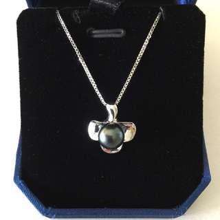 ✨Sale ⬇️ $798, 63% off✨ New 18K Tahiti peacock pearl pendant & necklace 大溪地黑珍珠吊咀及頸鏈