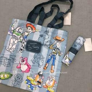 東京迪士尼 玩具總動員 收納袋 隨身 環保袋 購物袋 手提袋