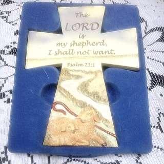 十字架 聖經陶板掛飾 #新春八折