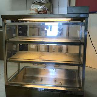 Table top Bain Marie with two tiers shelves