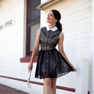 Lover the label black lace dress