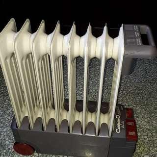 vintage heater portable Caldissim formula one  delonghi