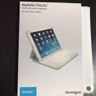 BNIB Keyfolio thin X2 with bluetooh keyboard