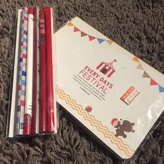 Bundling Pencil Set And Notebook