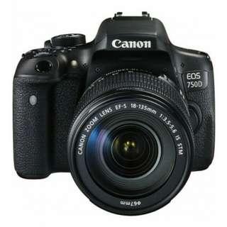 Canon eos 750D kit 18-135mm f3.5-5.6 IS STM WIFI Bisa kredit tanpa cc