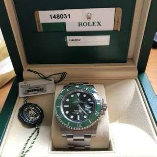Rolex submariner green 116610LV