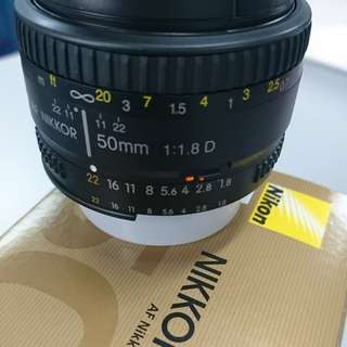 (NEW) NIKON Lens Nikkor 50mm 1.8D