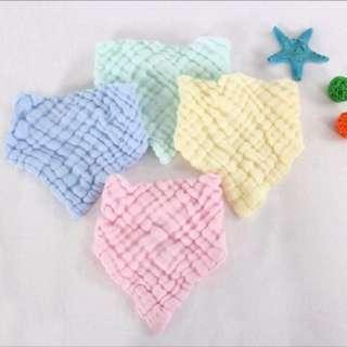 🚚 六層紗布口水巾(各色現貨)