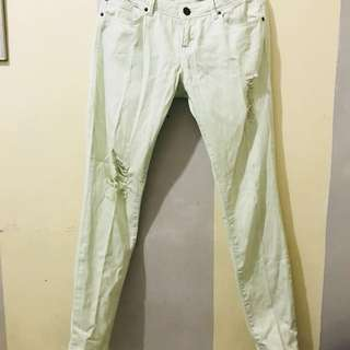 Forever21 Mint Ripped Jeans