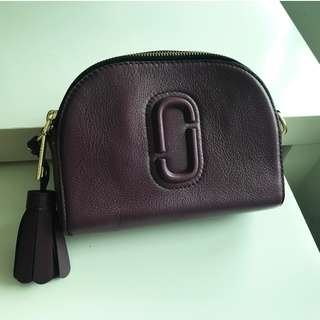 【Marc Jacobs】Women's Shutter Small Camera Bag Leather 酒紅