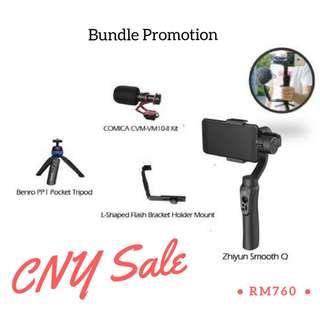 COMICA CVM-VM10-II Kit + Zhiyun Smooth Q + L Bracket