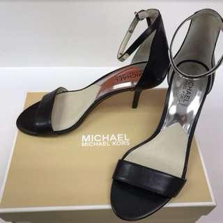 Michael Kors Women's Kristen Mid Ankle Strap Black Leather