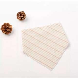 🚚 有機棉寶寶口水巾(彩色條紋)