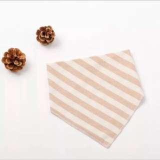🚚 有機棉寶寶口水巾(咖/灰)