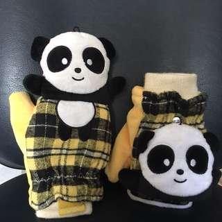 Ocean Park Panda Gloves