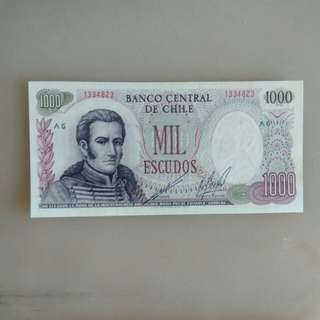 Chile 1000 Escudos 1967-76 issue