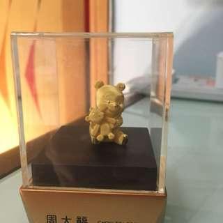 【私人珍藏】周大福 小熊維尼 Winnie the Pooh 足金擺設