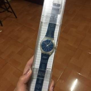 GK330 Swatch 2001 Calendar Blue Artistic