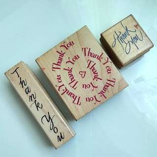 Thank You Wooden Rubber Stamps