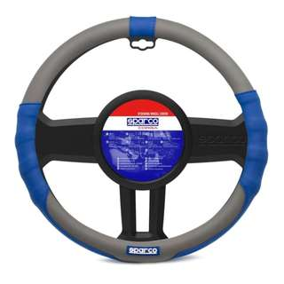 Sparco SPC1105 Steering Wheel Cover (Blue/Grey)