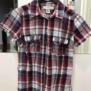 Hnm plaid shirt