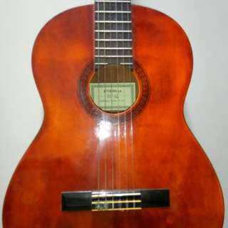 Yamaha Eterna Ec-12 Guitar with Cover classical acoustic classic and Brand new Augustine strings