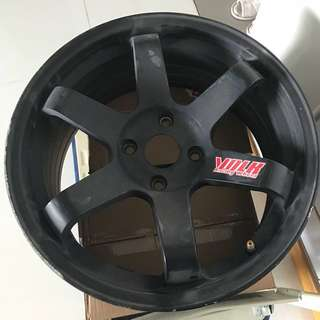 Volk Racing wide offset rim. 17inch. (1pc) PCD 4 x 114.3