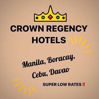 Crown Regency Hotels Accommodations