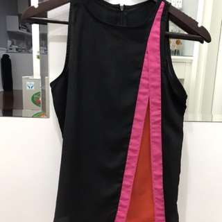 Black and pink top