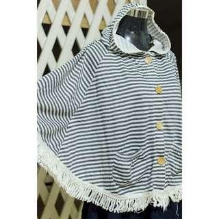 Striped Poncho Top