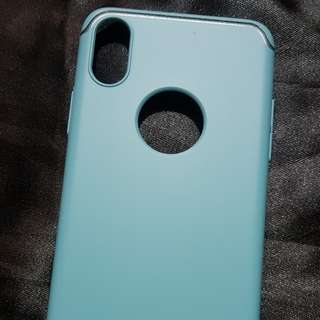 Aqua Blue Iphone X Luxury Line Case