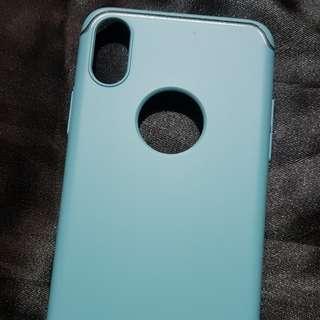 Aqua Blue Iphone X Luxury Line Case