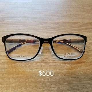 全新眼鏡框(Synergy) 冇螺絲位