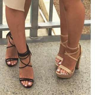 Strappy heels for sale