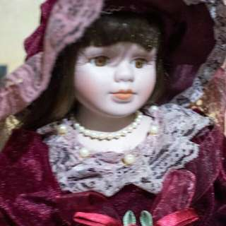 Porcelain Doll 14""