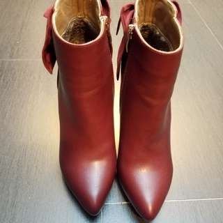 Red leather hight heel
