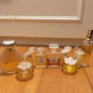 Vintage Chanel and Nina Ricci Perfumes