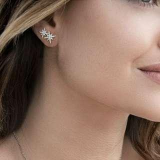 S925純銀 apm 星星 雙星 耳環