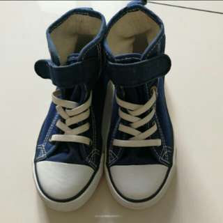H&M unisex highcut blue shoes
