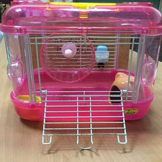 大尺寸老鼠籠子(內附滾輪、飲水器、小窩、食物盆)
